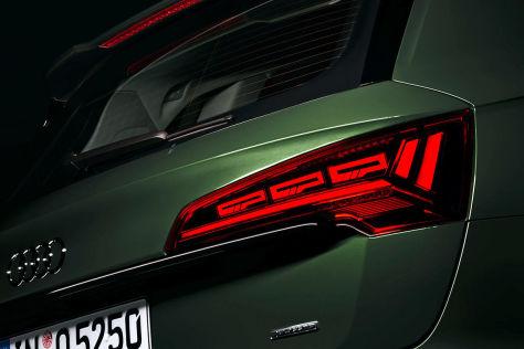 Das macht der Audi Q5 mit OLED-Rückleuchten bei zu wenig Abstand - autobild.de