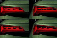 So reagiert der Audi Q5 mit OLED-Rückleuchten bei zu wenig Abstand