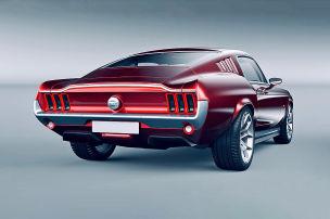850-PS-Retro-Mustang auf Tesla-Basis
