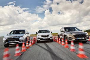 Kuga, Outlander, Grandland X: Plug-in-Hybrid-SUVs