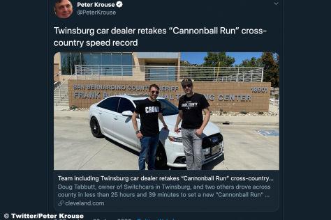 Cannonball-Rekord im Audi S6: USA, Küste zu Küste