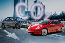 CO2: Model 3 schlägt C-Klasse deutlich