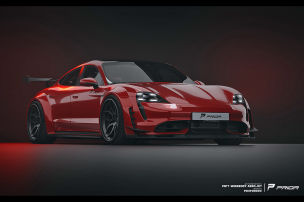 Porsche Taycan mit Widebody-Kit