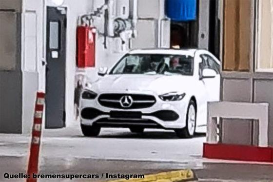 Neue Mercedes C-Klasse geleakt - so sieht die Front aus!