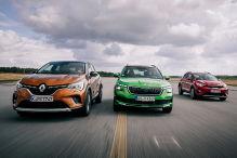 Kia Stonic, Renault Captur, Skoda Kamiq: Test, Motor, Preis