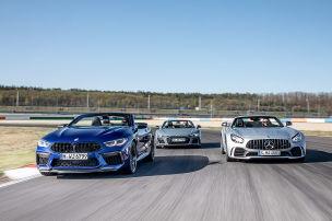 Drei Power-Cabrios rocken die Rennpiste