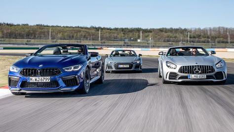 Audi R8, BMW M8, Mercedes-AMG GT R: Test