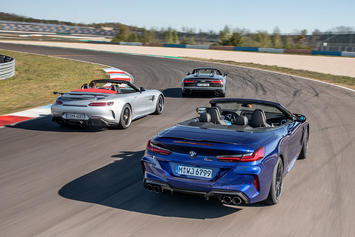 Audi R8 BMW M8 Mercedes-AMG GT R