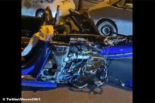 Audi R8 bei Crash zerteilt, Fahrer flieht