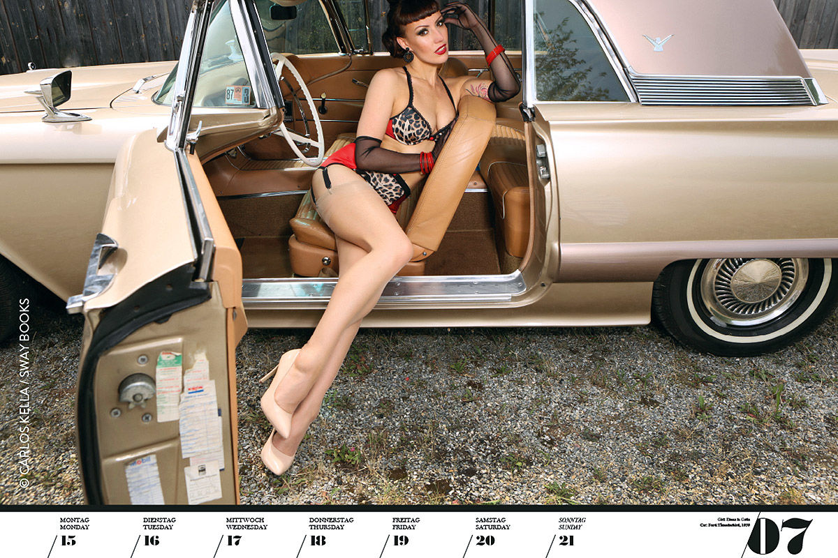 Girls & Legendary US-Cars 2021: Erotik-Kalender
