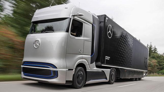 Mercedes LKW Studie soll bis zu 1000 km mit Wasserstoff fahren können