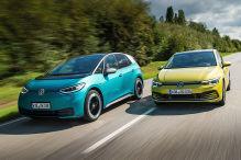 VW Golf, VW ID.3: Benziner gegen Elektro