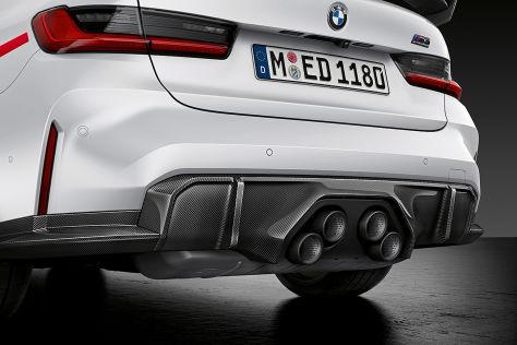 BMW M3, M4 (2021): M Performance-Parts, Klappenauspuff