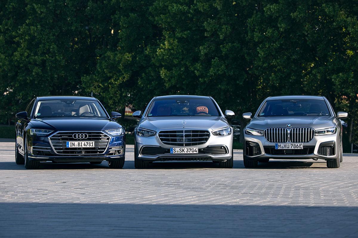 Audi A8 BMW 7er Mercedes S-Klasse