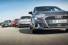 Audi A3, BMW 1er, Mercedes A-Klasse, VW Golf: Test