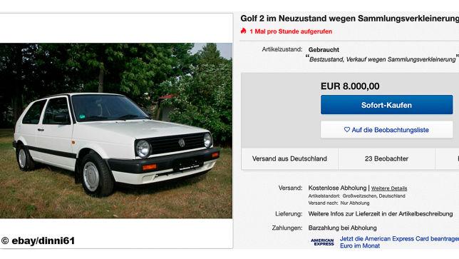 VW Golf 2 im Neuzustand zu verkaufen