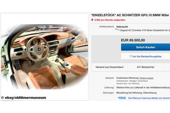 Einzigartiger 3er-BMW mit V10-Motor und 552 PS zu verkaufen!