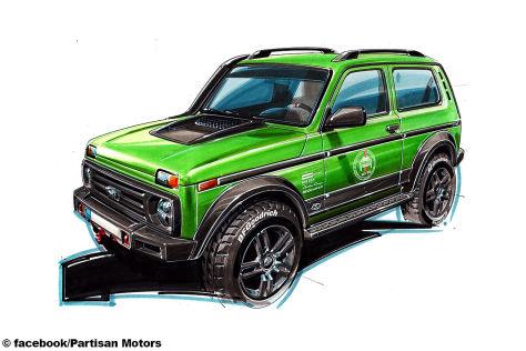Lada 4x4 Tuning: Partisan Jubiläums-Modell