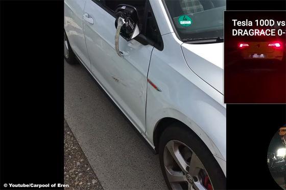VW Golf 7 GTI rammt Skoda bei 230 km/h auf der Autobahn!