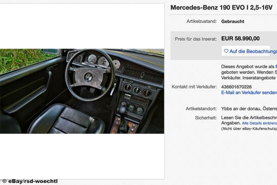Extrem seltener Mercedes 190 im Originalzustand zu verkaufen!