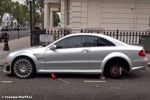 Mercedes CLK 63 AMG Black Series: Felgen, Diebstahl