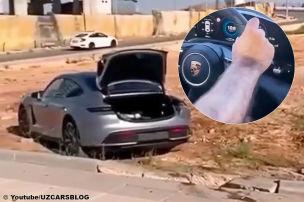 Porsche Taycan crasht mit fast 200 km/h