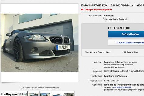 BMW Hartge Z50  E39 M5 V8 Motor