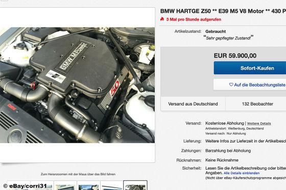 Brutaler BMW Z4 mit getuntem M5-V8 von Hartge zu verkaufen