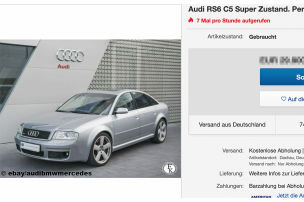Extrem seltener V8-Audi zu verkaufen!