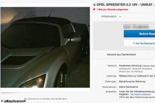 Scheunenfund: Neuer Opel Speedster