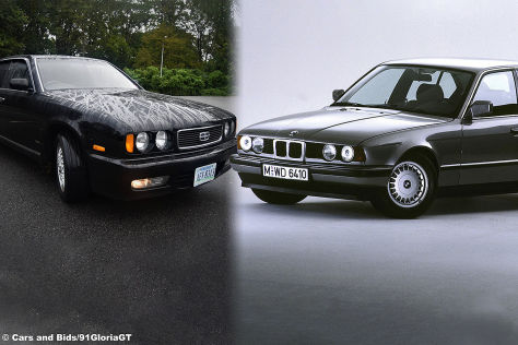Nissan Gloria 1991 vs. BMW 5er E34