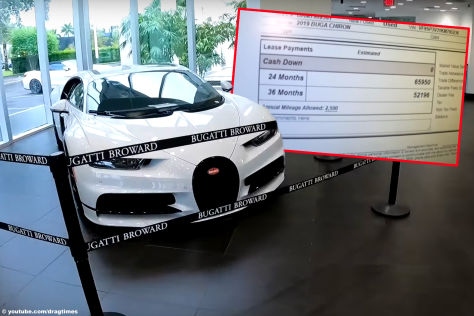 Montage  Bugatti Chiron Sport Leasingrate