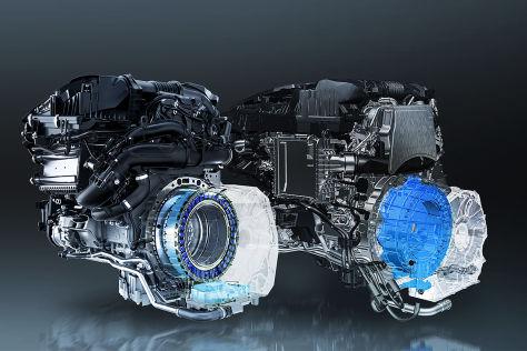 Mercedes E-Klasse mit M254 Vierzylinder Benzinmotor  und OM 654 M Vierzylinder Dieselmotor