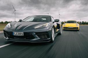 Mittelmotor-Corvette gegen Porsche 911