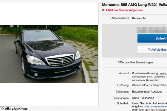 Mercedes S65 AMG Lang W221