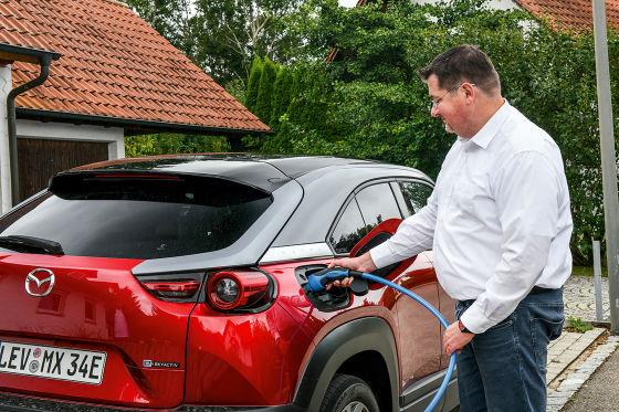 Heiko Sievers und Mazda MX-30