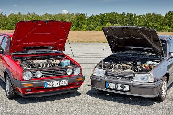 VW GOLF II GTI 16V.     OPEL KADETT E GSi