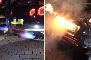 GT-R geht beim Posen in Flammen auf!