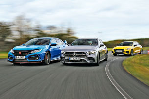 Audi S3, Honda Civic Type R, Mercedes-AMG A 35: Test