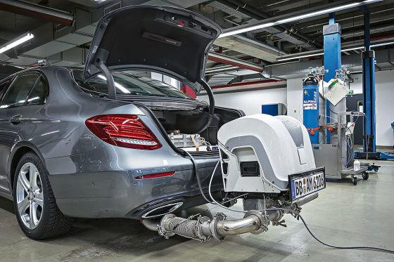 Mercedes Schadstoffausstoß WLTP Prüfzyklus Abgasmessung
