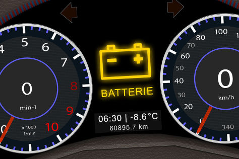 Auto Batterie Display
