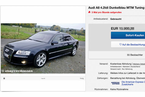 Audi A8 4.2tdi Dunkelblau MTM Tuning