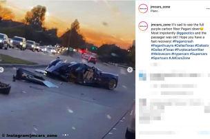 Pagani Huayra Roadster: Supercar-Unfall