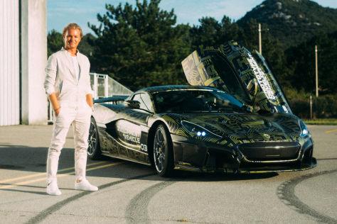 Nico Rosberg im Rimac C_Two