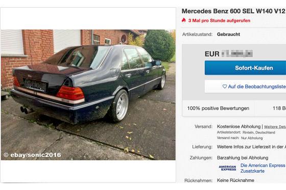 Mercedes Benz 600 SEL W140 V12 Motor