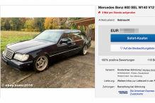 Legendäre S-Klasse mit V12 und 408 PS bei Ebay zu verkaufen