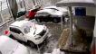 Nissan X-Trail-Crash: Betonplatte stürzt auf SUV