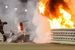 Grosjean �bersteht Feuercrash