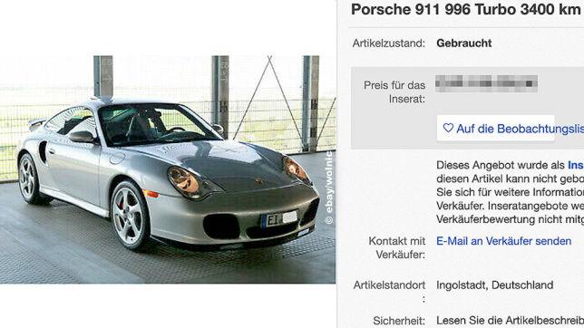 Porsche 911 (996) Turbo: Neuzustand