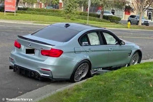 Fail: BMW M3 crasht gegen Bordstein